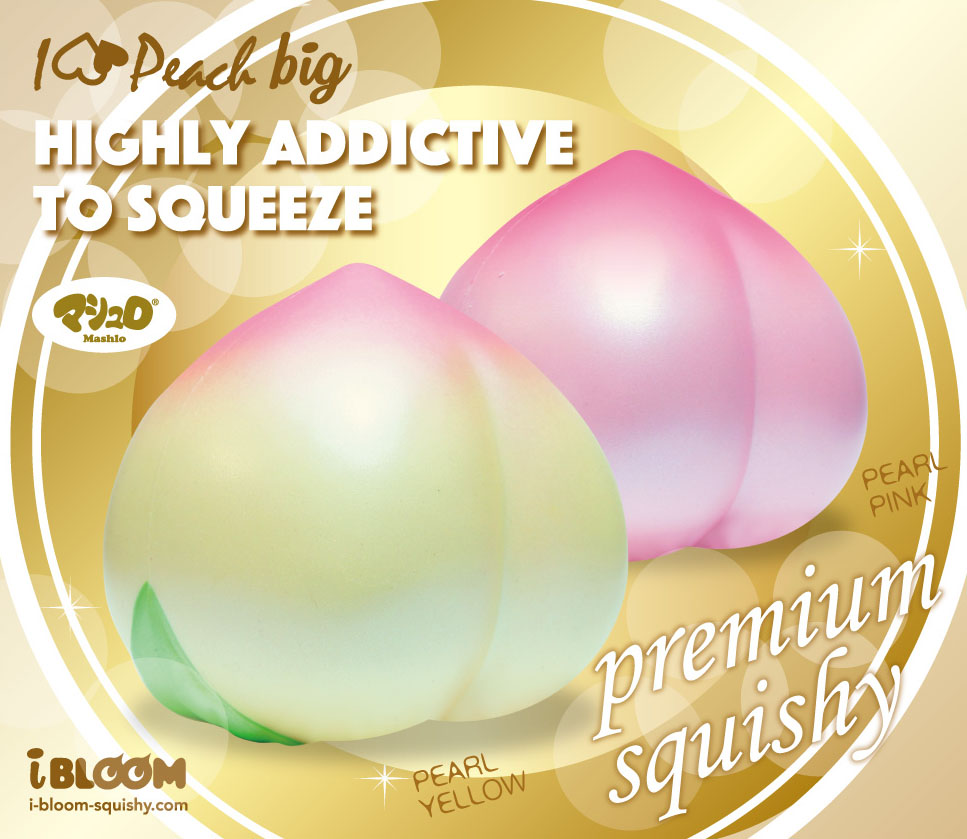 I Love Peach Big with new package - Squishy Japan