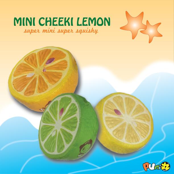 Squishy Lemon : PuniMaru - Mini Cheeki Lemon - Squishy Japan